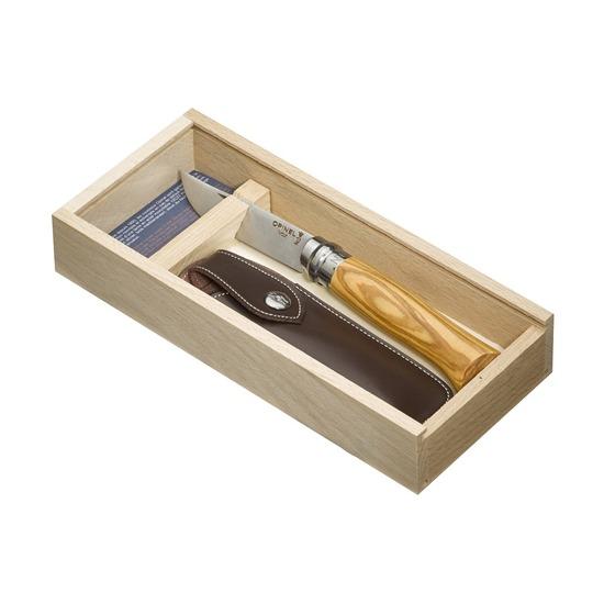 Нож с чехлом Opinel №8, олива